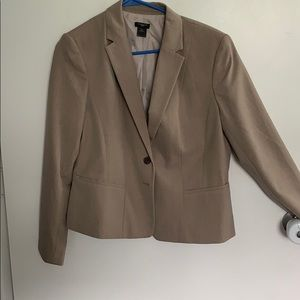 Taupe suit jacket